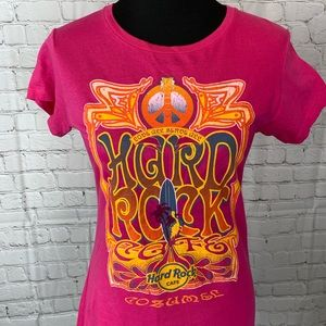Hard Rock Cafe Cozumel T Shirt Hippie Peace Love L